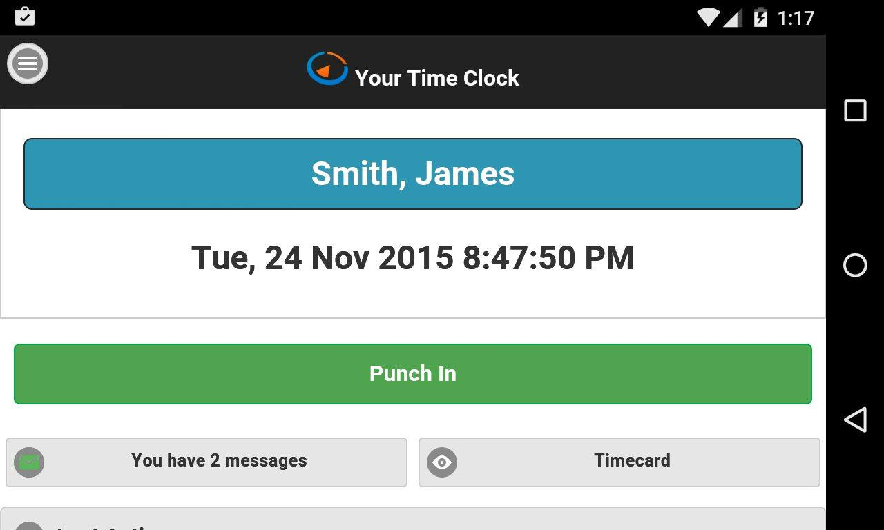 free time clock online